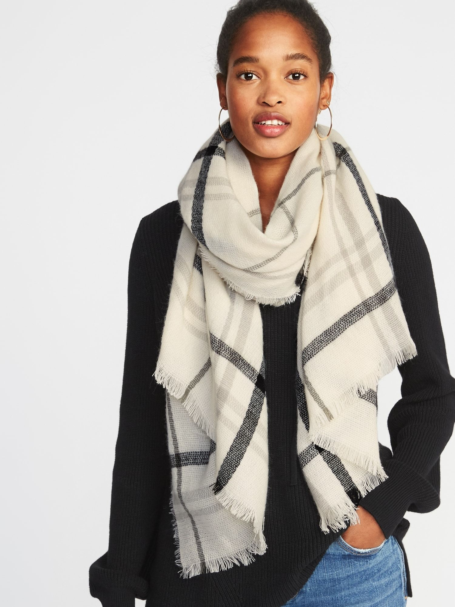 Flannel Blanket Scarf For Women Old Navy Womens Scarves Plaid