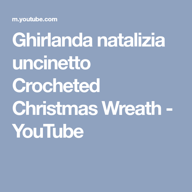 Photo of Ghirlanda natalizia uncinetto Crocheted Christmas Wreath