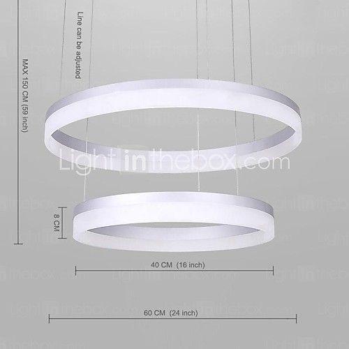Vertraglich Moderne Design-Mini-Anhänger LED-Ringdeckenleuchte mit 100-250V - USD $ 390.99