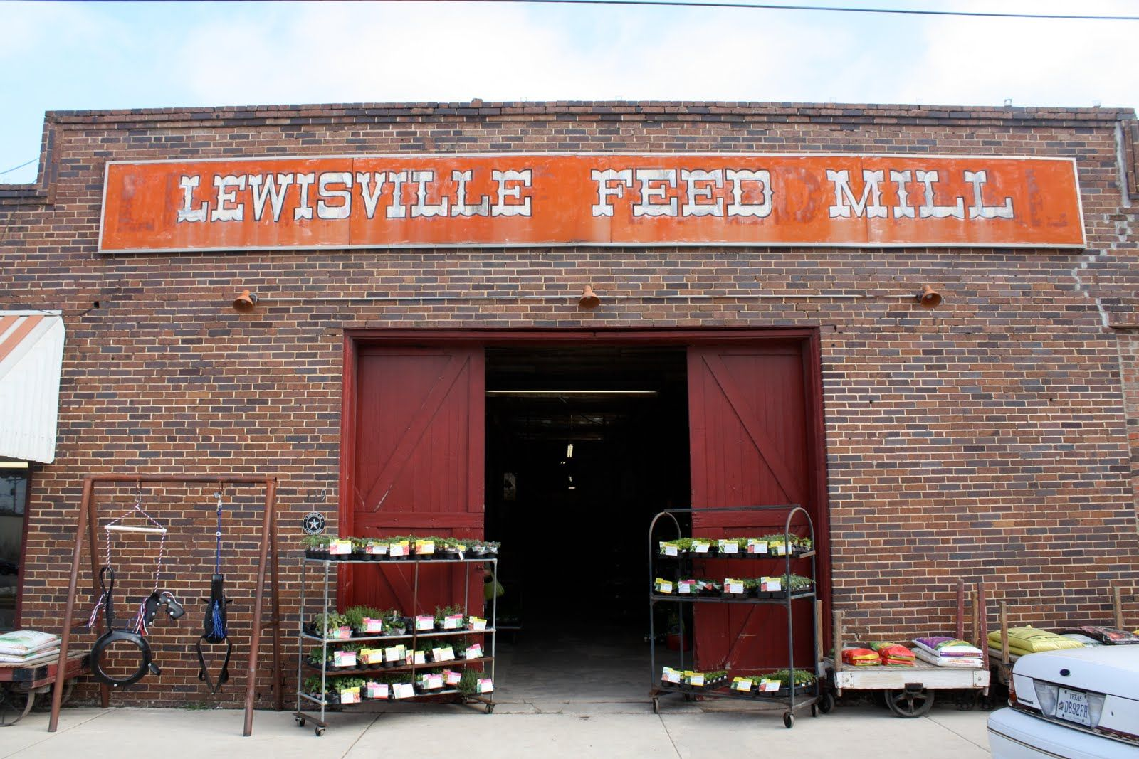 Front Door To The Lewisville Feed Mill My Home Town