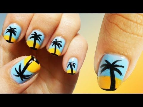 oasis beach nail art love