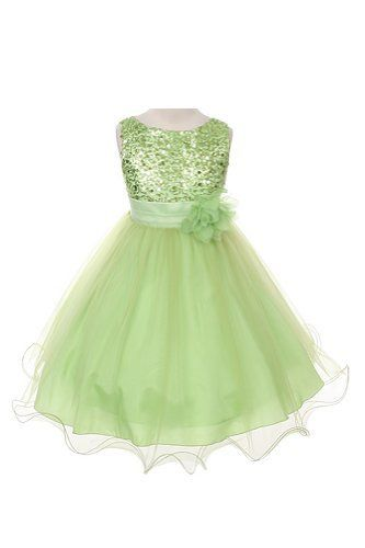 Sequin Bodice Tulle Special Occasion Holiday Flower Girl Dress - Lime Green 7-8 Color: Limegreen Size: 7-8 NewBorn, Kid, Child, Childern, In... - Click image twice for more info - See a larger selection of little girl special ocassion dresses at http://girlsdressgallery.com/product-category/special-occasion-dresses/- kids, toddler, kids dresses, little girls, dress, gown, little girls fashion, gift ideas, flower girl, wedding, party dress
