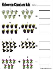 free printable halloween math worksheets for kindergarten  preschool and kindergarten halloween math worksheets also simple subtraction  pinterest rh