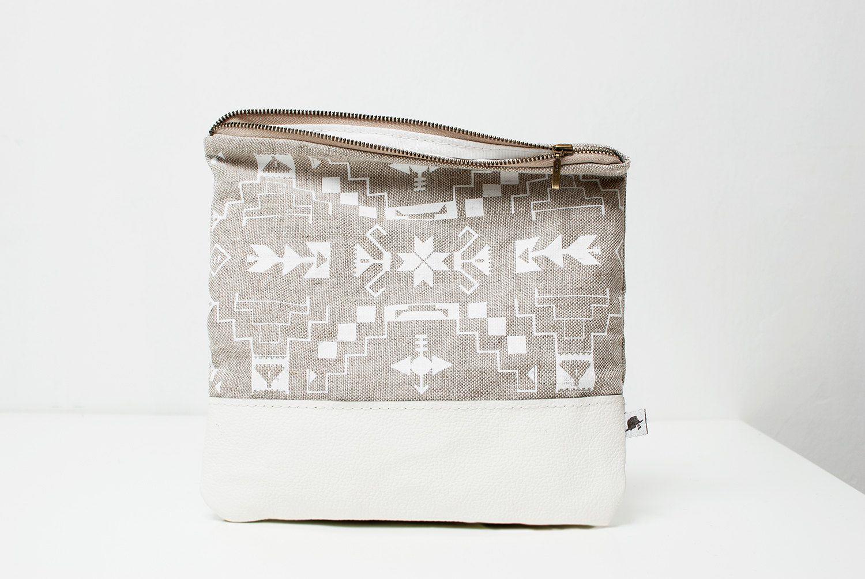 bag, hand printed linen ~ coriumi