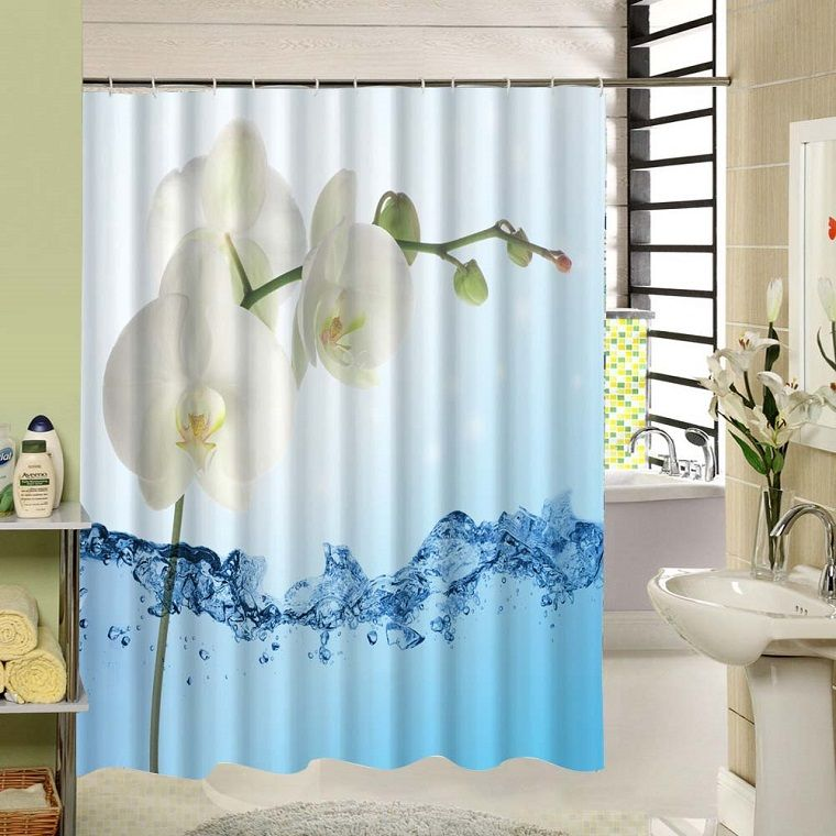 tende-per-bagno-orchidee | Tende bagno | Pinterest