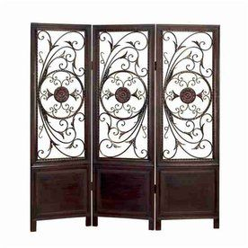 Woodland Imports 3 Panel Folding Indoor Privacy Screen