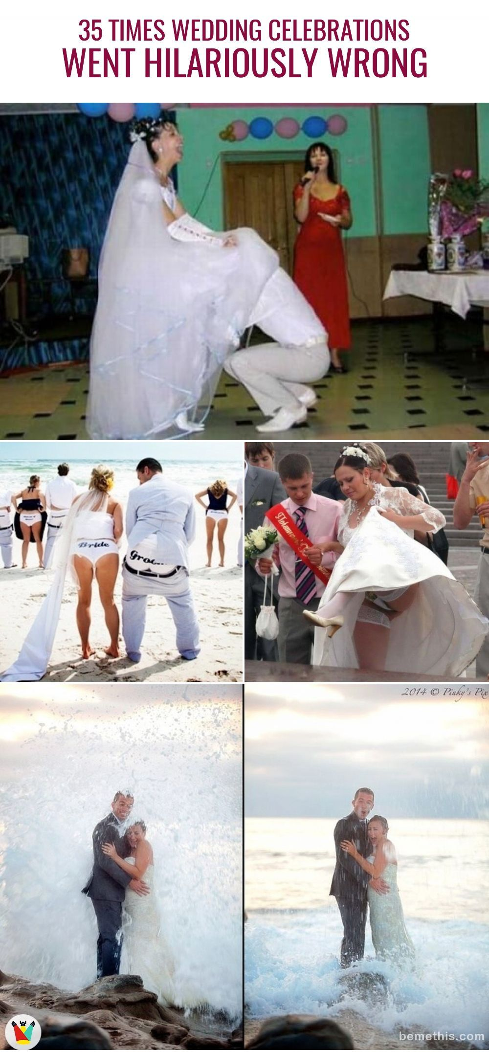 Listed Up In This Post Are 30 Photos When Wedding Celebrations Went Hilarious Wrong Weddings Clothing Fails Fu Celebrity Weddings Celebrities Wedding Fail