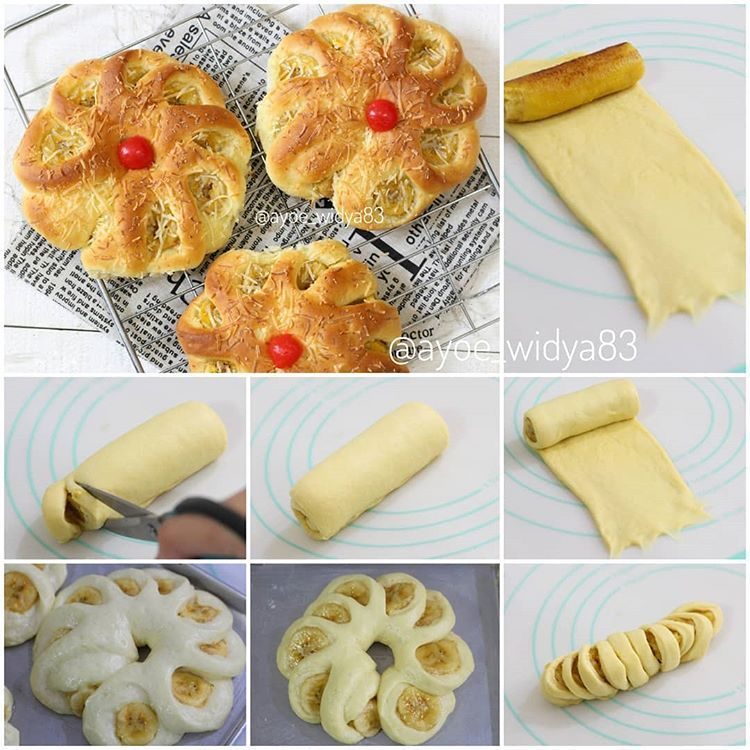 Ini Tutorial Roti Pisangnya Mommies Untuk Resep Dasar Roti Manisnya Bole Pake Yang Disuka Yah Ada Bbrp Step Yang Ga Ke F Makanan Makanan Pendamping Resep