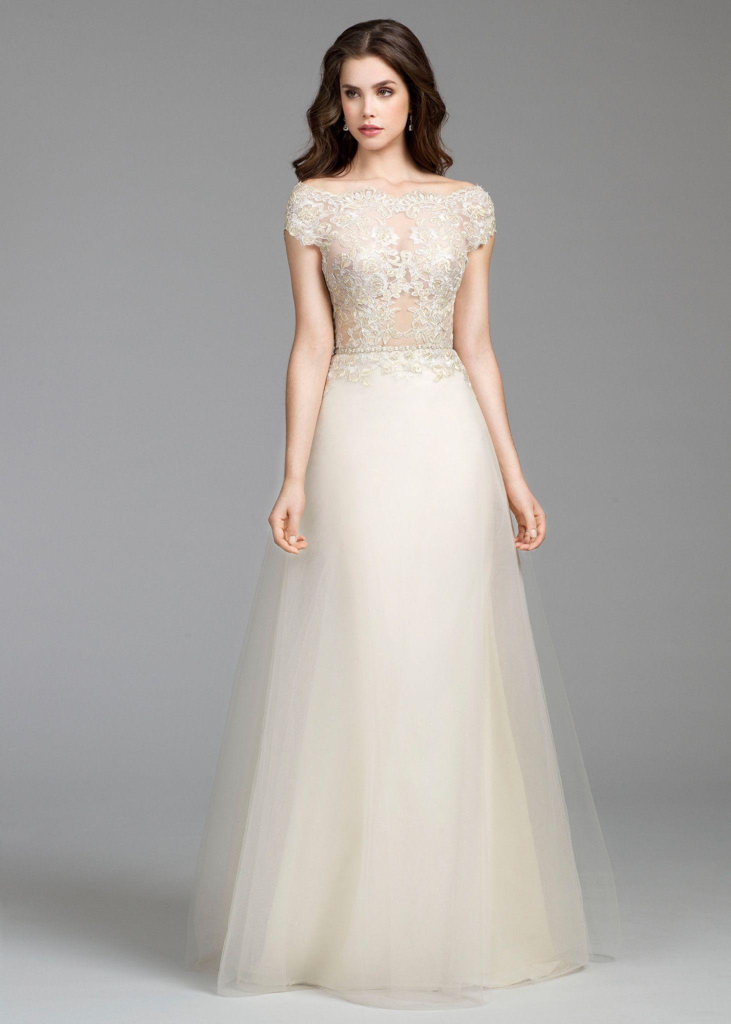 Bateau Lace Wedding Dress Tara Keely