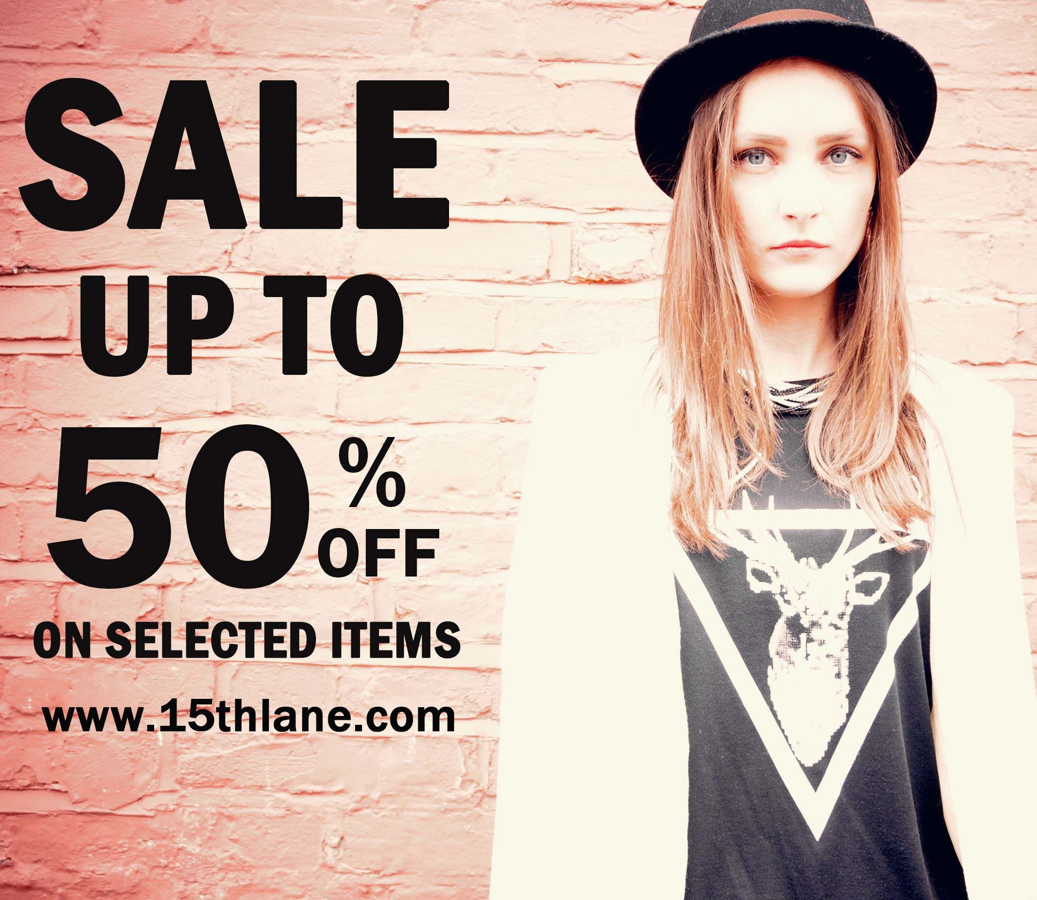 SALE IS NOW ON AT www.15thlane.com