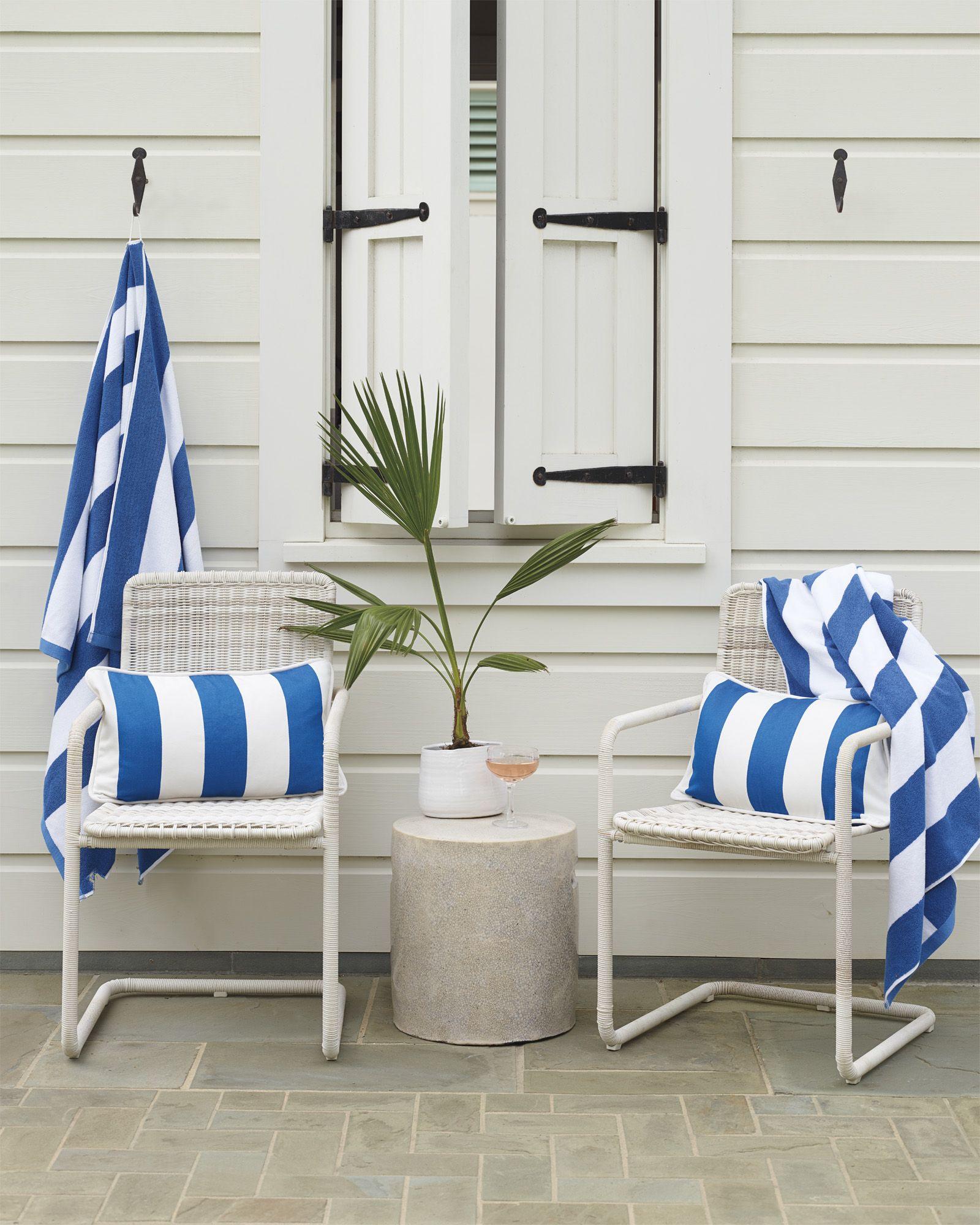 Cabana stripe beach towelcabana stripe beach towel royal blue