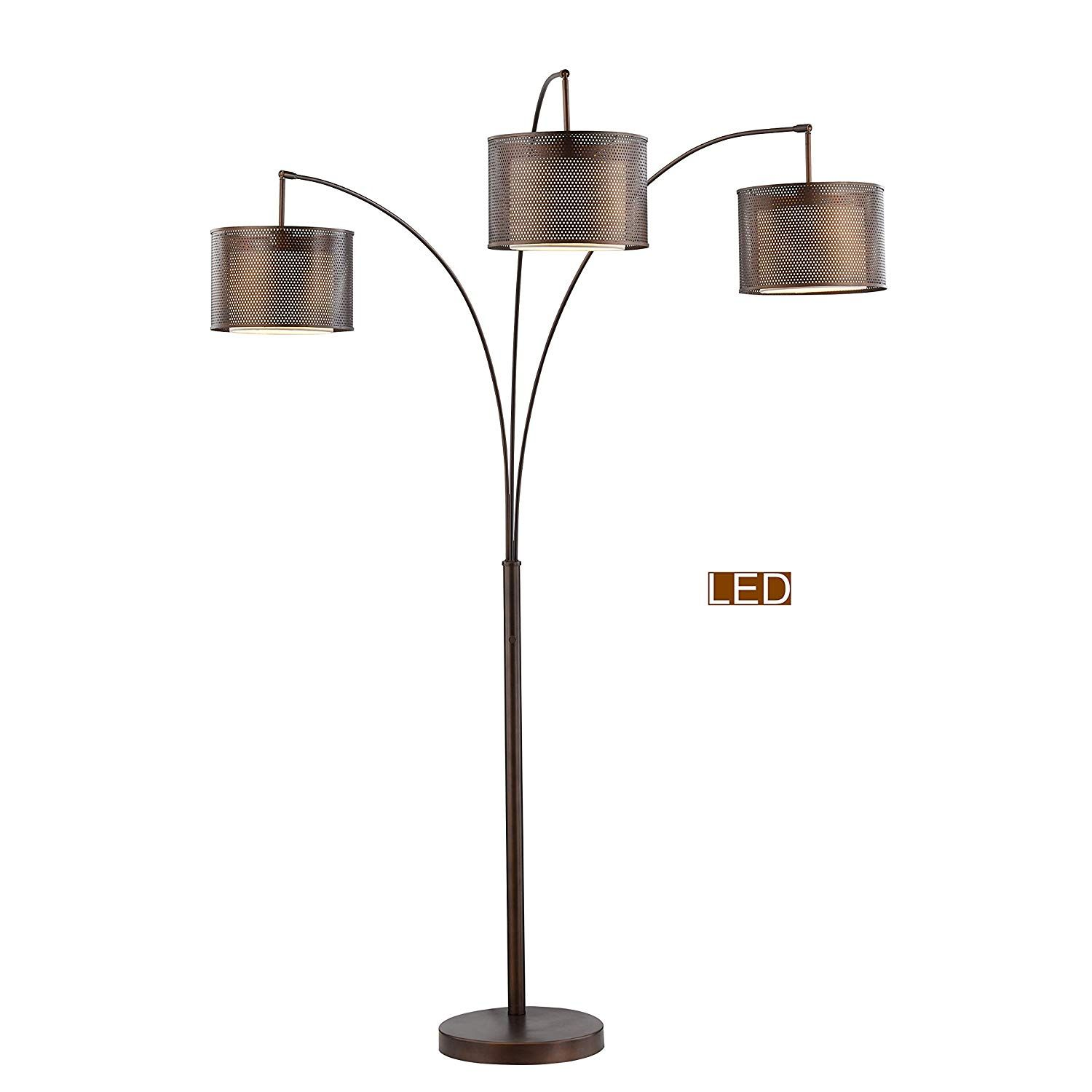 Artiva Usa Lumiere Ii Led Arched Floor Lamp 83 Antique