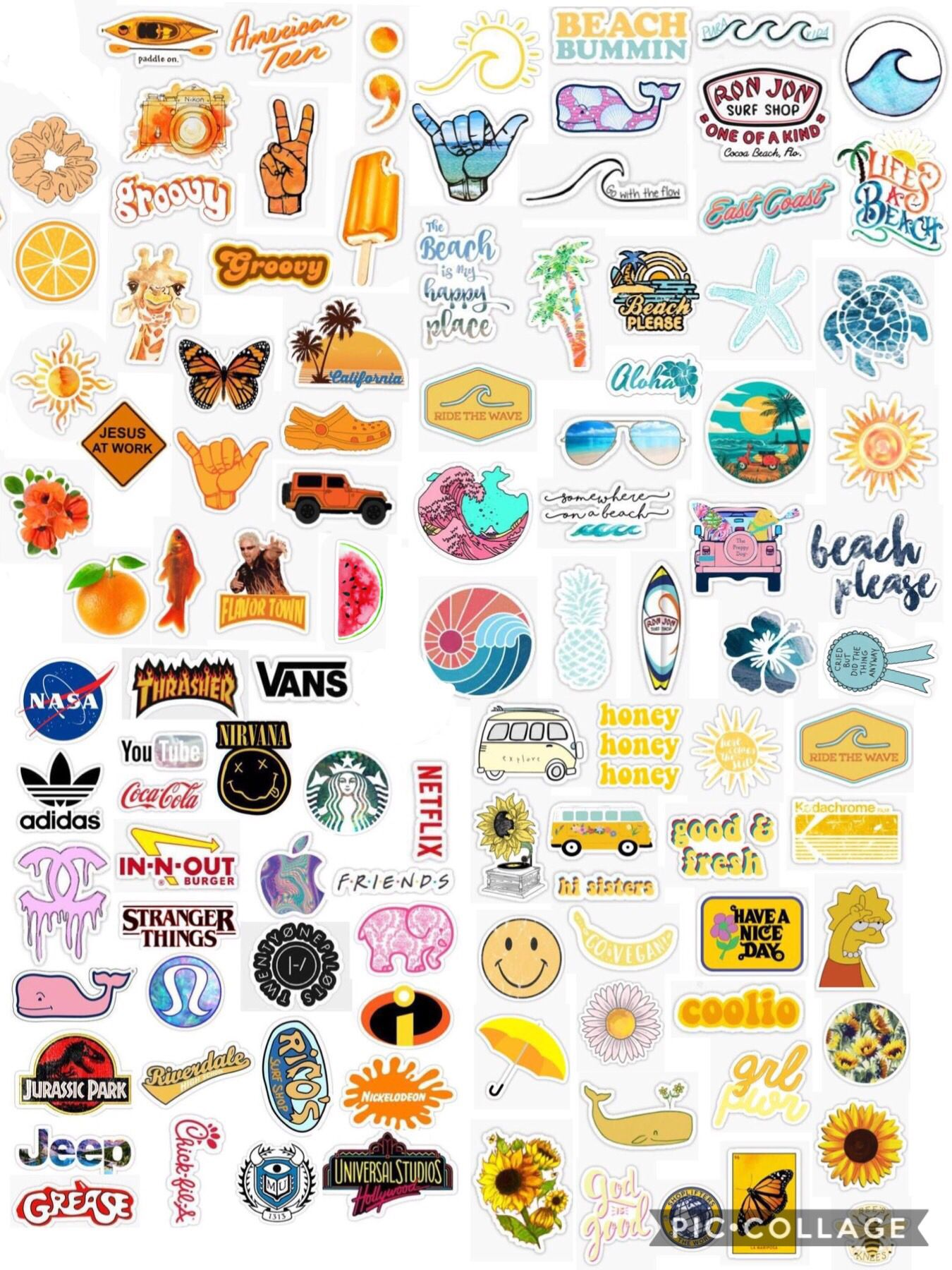 It's just a picture of Aesthetic Printable Stickers pertaining to logo