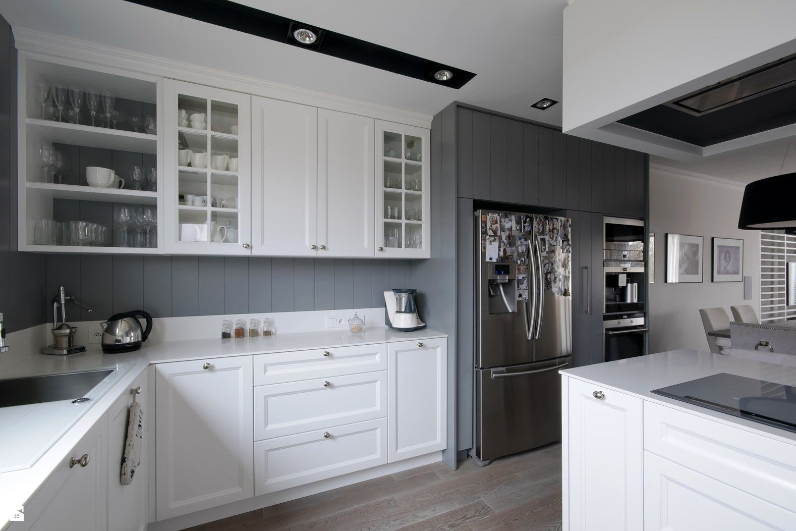 Wystrój wnętrz  Kuchnia  styl Skandynawski Projekty i   -> Kuchnia Z Jadalnią Inspiracje