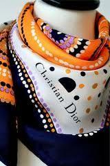 Christian-Dior-Spotty-vintage-retro-silk-scarf