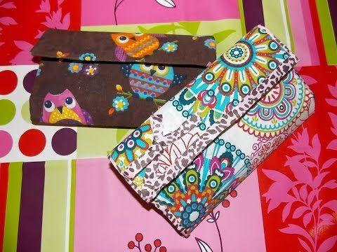 bc1d63b3b Cartera de Carton y Tela - Monedero Estilo Vintage - DIY Cartonaje -  Catwalk - YouTube