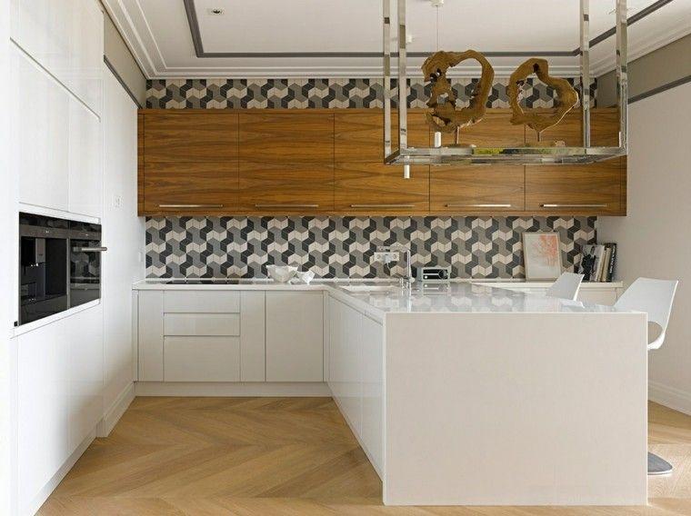 Azulejos cocina y salpicaderos geométricos retadores Cocina