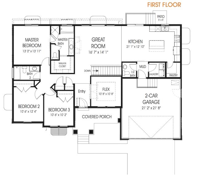 Hailey Rambler Floor Plan Utah Edge Homes Floor Plans Rambler House Plans House Structure Design