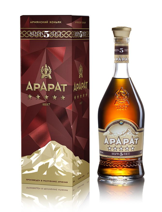 Armenian cognac 5 stars - quality and harmony of taste