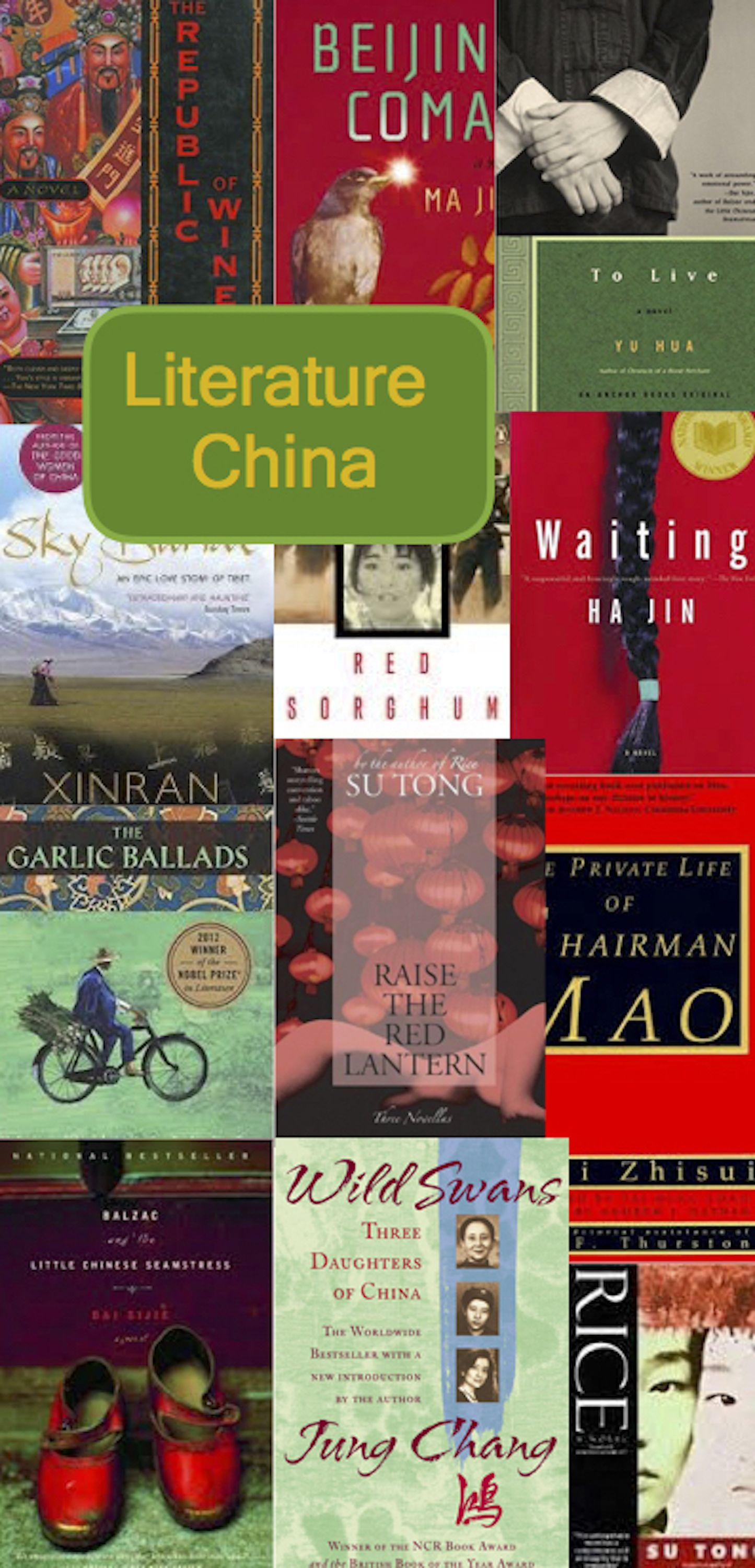 A Collection Of Chinese Literature Popular Books Contemporary And