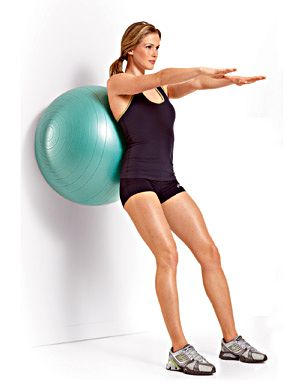 EXERCISE 3A: Swiss-Ball Body Weight Wall Squat STEP 1 (Quadriceps