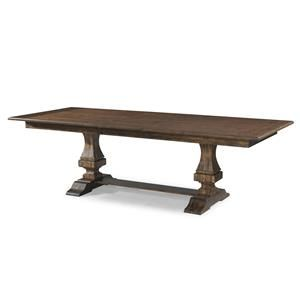 Trisha Yearwood Home Trisha's Trestle Table With 18 Inch Leaf Amusing Klaussner Dining Room Furniture Decorating Design