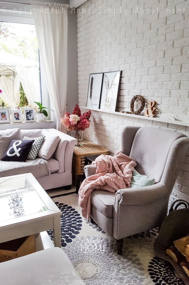Pared Ladrillo Blanco Salon In 2018 Pinterest Ladrillo Hogar - Pared-ladrillo-blanco