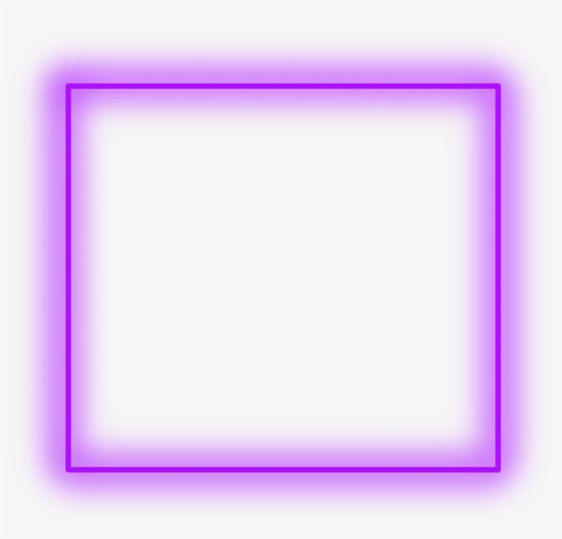 Sticker Neon Square Purple Freetoedit Frame Border Circle