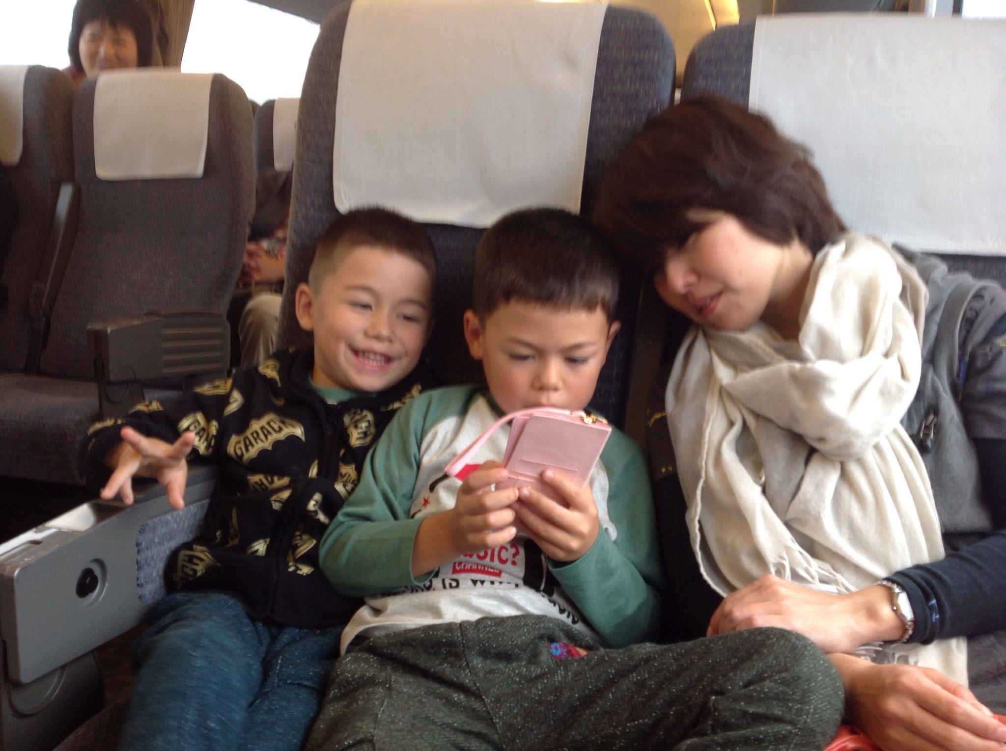 headed to usj -- Tommy, Mikey and my #sexy #Japanese #wife Princess Katsuko