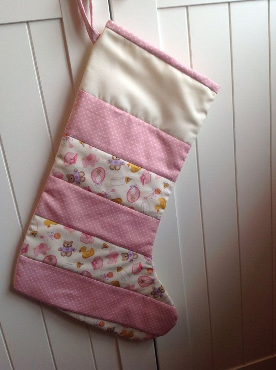 Babies First Quilted Christmas Stocking on Etsy, £12.00