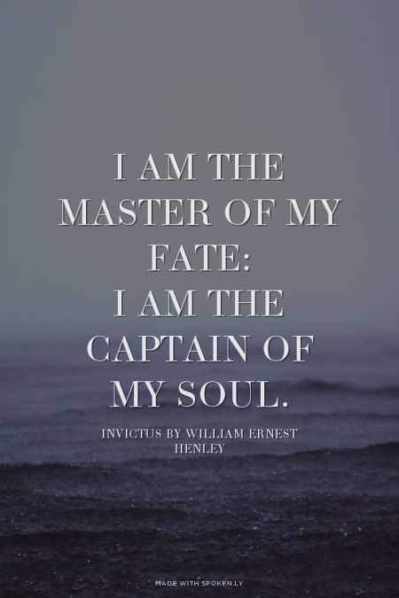 Image result for invictus i am the master of my fate