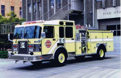 Tacoma Wa Fd Engine 1 1991 Spartan E One Pumper