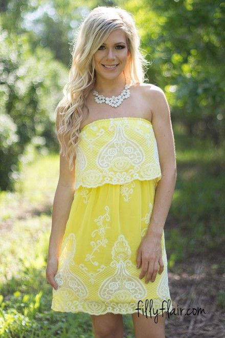 Summer Romance in Yellow - Dresses