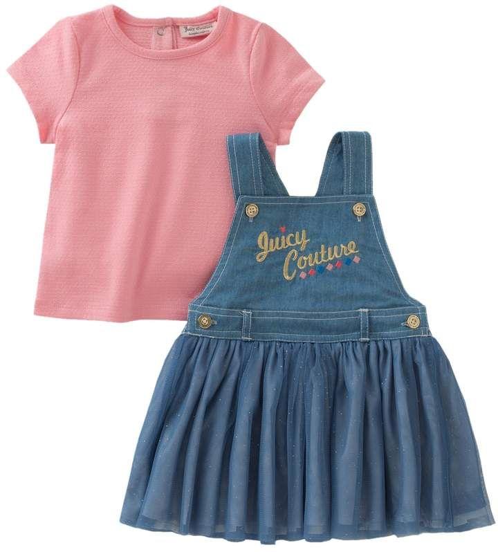 492d33e89e Juicy Couture Denim Dress   Solid Top Set