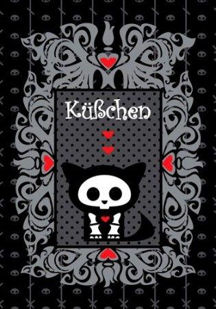 Skelanimals Postkarte Kit - Küßchen