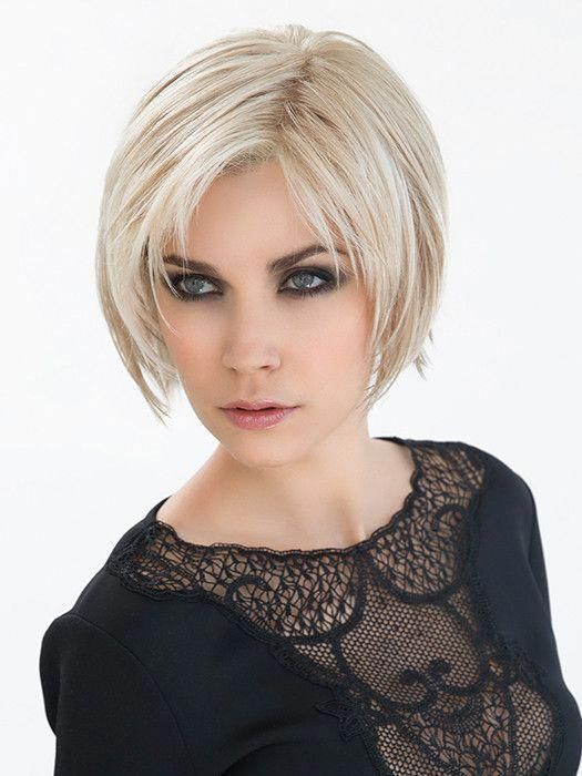 Echo Wig by Ellen Wille This Echo will be loud and glorious! This modern, edgy bob style with its long bangs is a style that seduces. The irregular, yet perfect cut gives this wig a girlish look. Echo features a lace front and hand-knotted monofilament part, along with adjustable straps and a comfortable and cool cap. SPECIAL FEATURES Monofilament Part - Hand-knotted to create the appearance of natural hair growth where the hair is parted and is sheer to b #texturedBob #edgybob Echo Wig by Ellen #edgybob