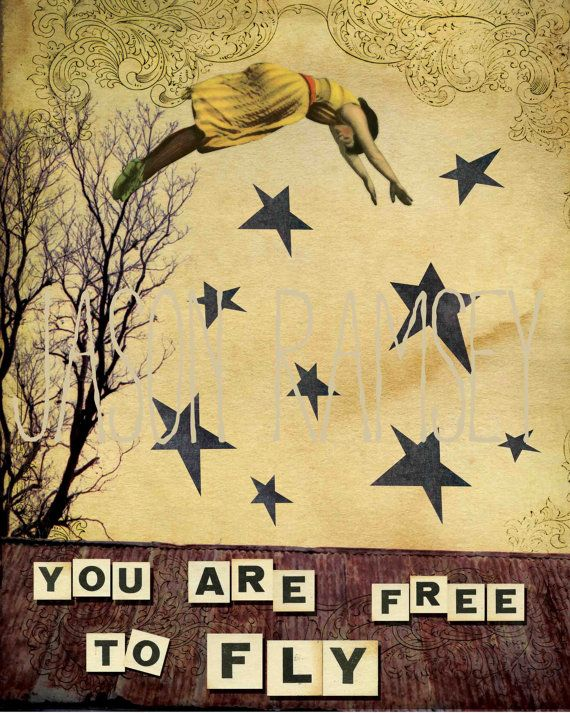 You are free to fly 8x10 print lovely home decor by jasonramsey, $13.00