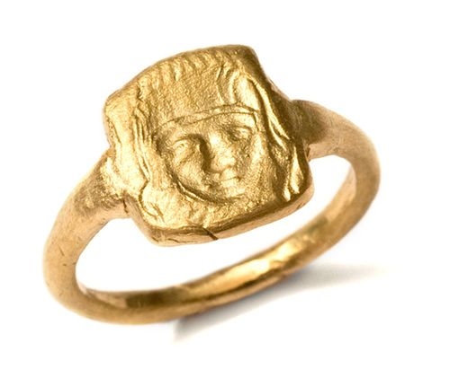 22 carat Yellow Gold St Cathering Signet Ring.jpg