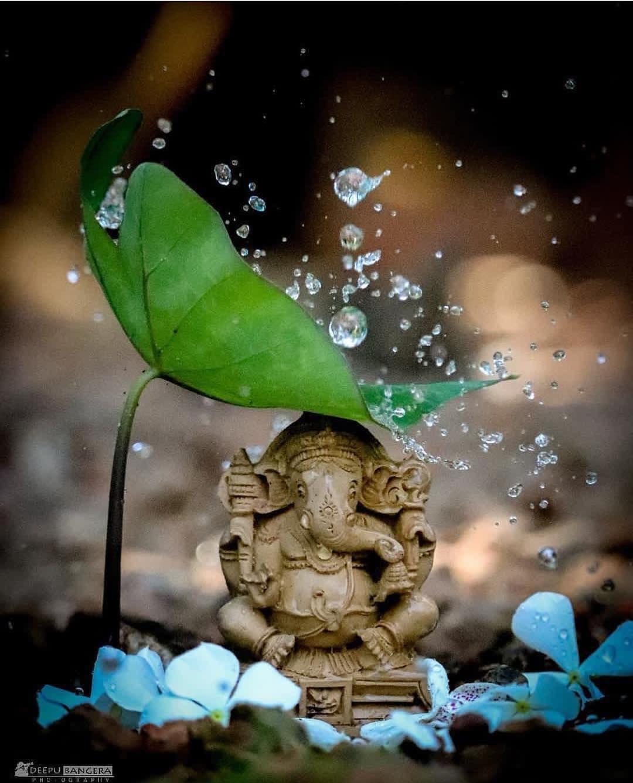Image May Contain Plant Night And Outdoor Lord Ganesha Paintings Lord Shiva Painting Ganesha Painting