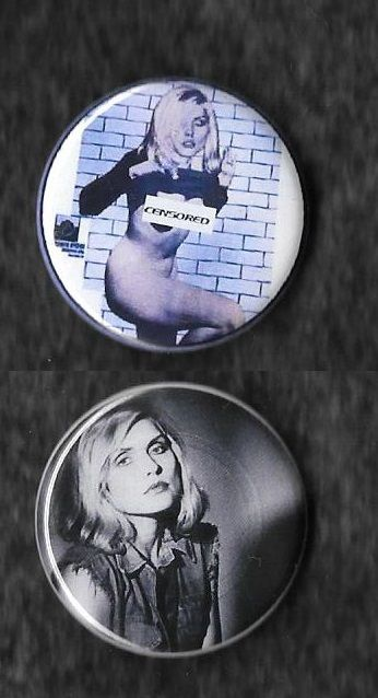 Badges Made From Using Bootleg Picture Disc Designs Button Zombie 32mm Blondie Debbie Harry Debbie Harry Badge