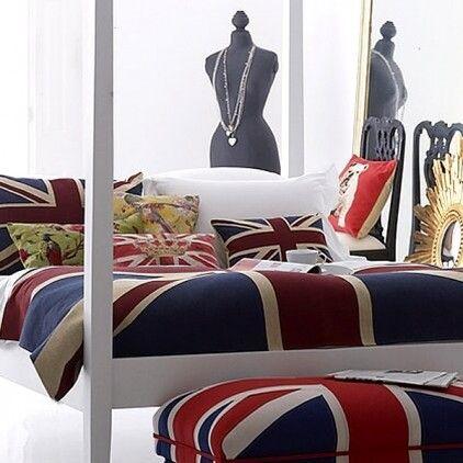 Union Jack Bedding Union Jack Decor British Home Decor Union