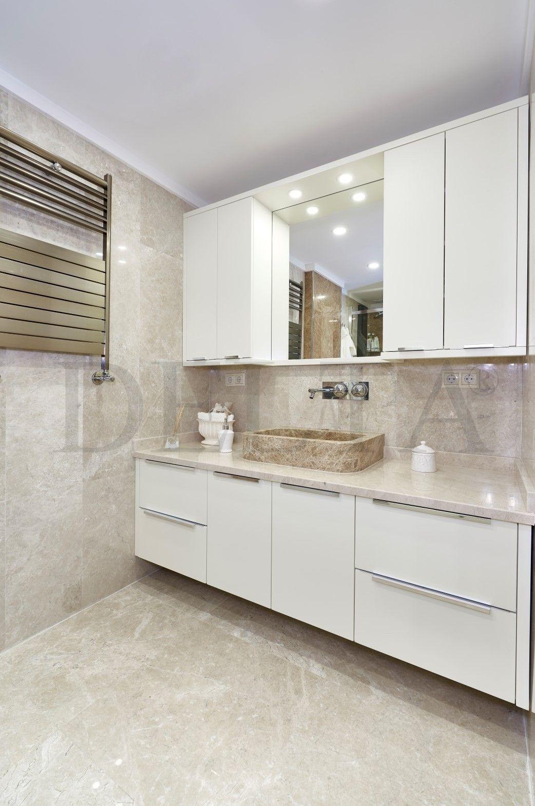 Platin Cream Beige Amp Light Emperador Marble Bathroom