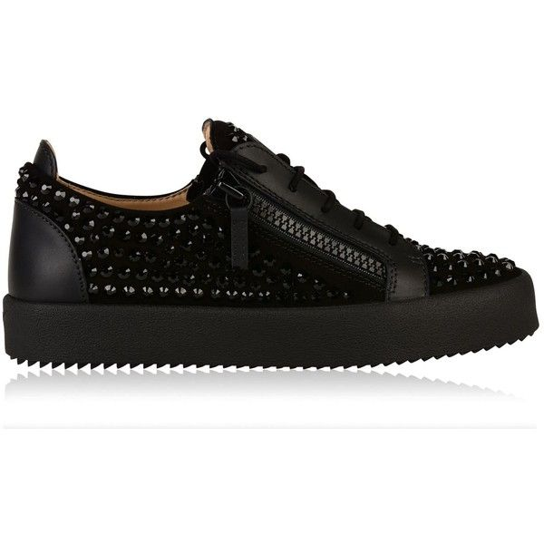 771176e823107 GIUSEPPE ZANOTTI Diamond Zip Low Trainers ($1,265) ❤ liked on Polyvore  featuring shoes, sneakers, low top sneakers, lacing sneakers, laced up shoes,  ...