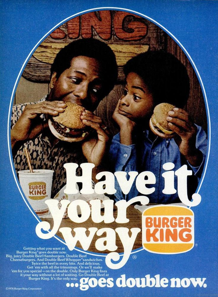 Burger King Have It Your Way Ad 1976 Vintage RestaurantRestaurant
