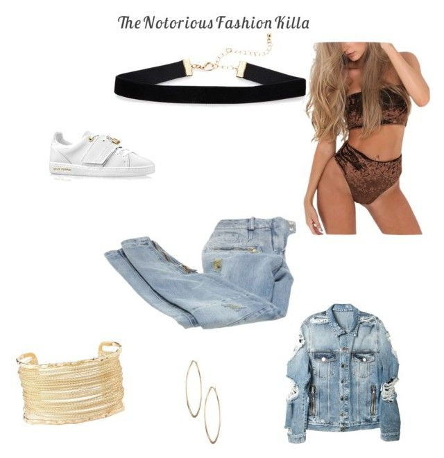 """""""Jane"""" by thenotoriousfashionkilla on Polyvore featuring Balmain, Charlotte Russe and Lydell NYC"""