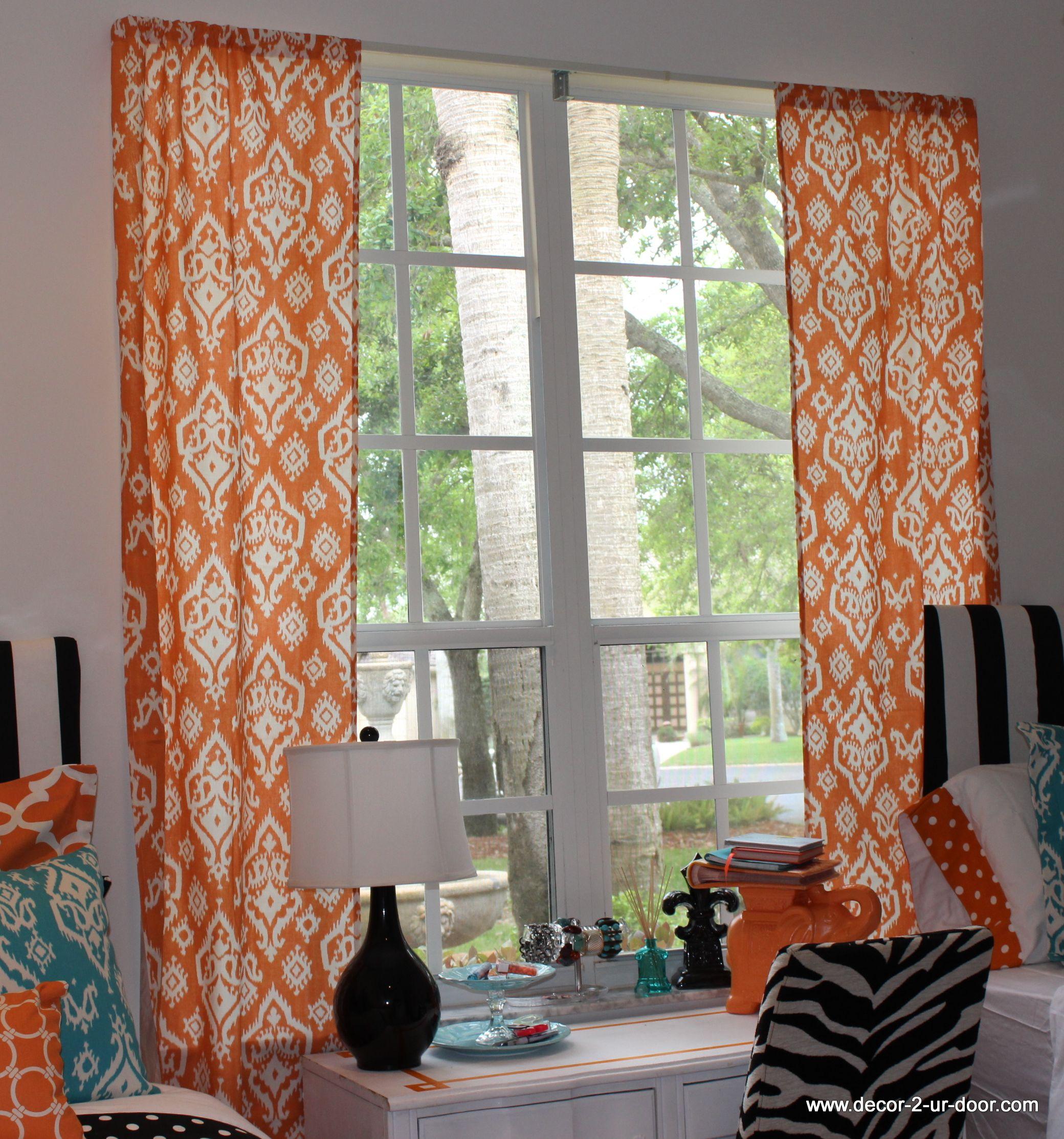 Ikat Dorm window treatment panels Jazz up those boring windows