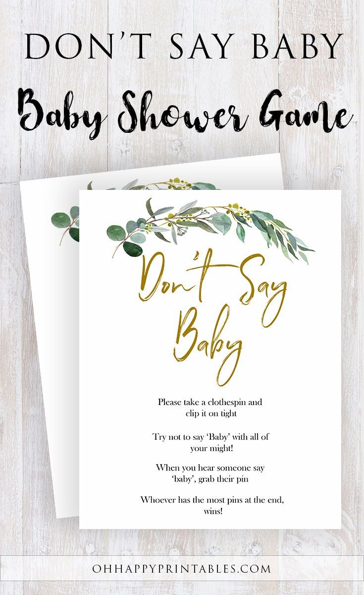 Eucalyptus baby shower games baby shower game printable