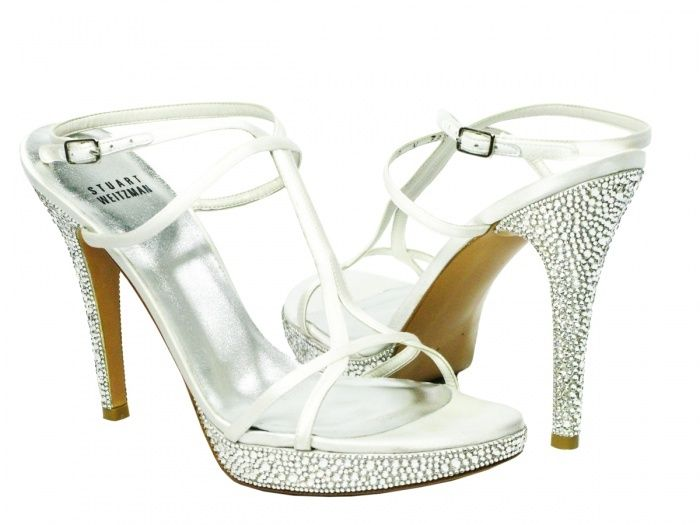 Stuart weitzman wedding shoes stuart weitzman white satin bridal get yourself the pair of shoes that you will own forever these authentic stuart weitzman white crystal shoes are extremely precious solutioingenieria Choice Image
