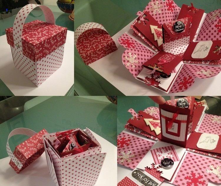 DIY boîte à explosion Noël - tutos et idées à réaliser avec votre famille   Boîte à explosion ...
