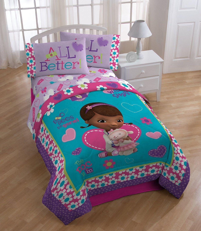 Amazon Com Disney Doc Mcstuffins 4pc Set Twin Comforter Sheet